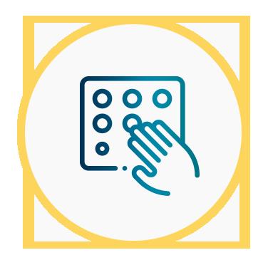 Icono con una señal en Braille